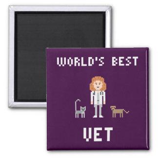 Pixel-bester weiblicher Tierarzt-Magnet Quadratischer Magnet