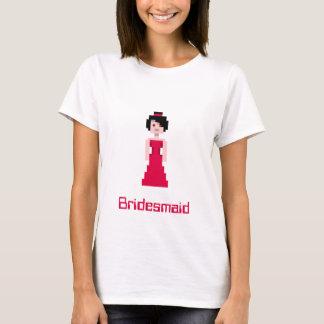 Pixel-Brautjungfer - Rot T-Shirt