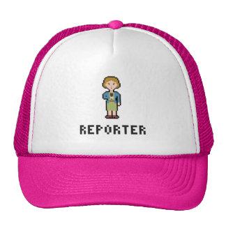 Pixel-Frau-Reporter Netzcap