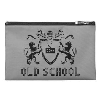 Pixel-heraldische alte Schulreise-Zusatz-Tasche