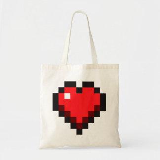 """Pixel-Herz-""""Liebe-Leben"""" Gamer Tragetasche"""