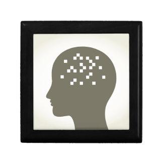 Pixel in einem Kopf Erinnerungskiste