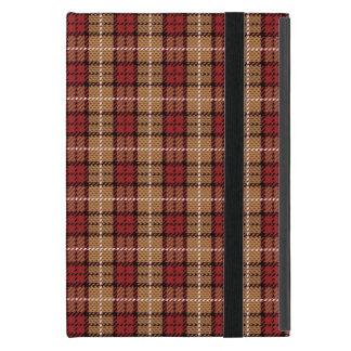 Pixel kariert im Rot und im Gold Etui Fürs iPad Mini