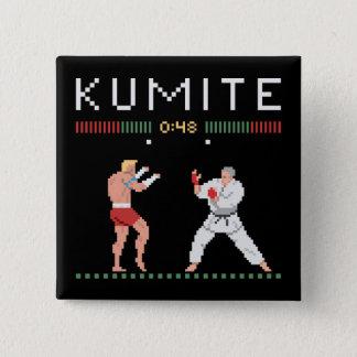 Pixel Kumite Quadratischer Button 5,1 Cm
