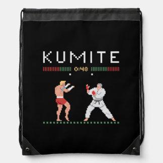 Pixel Kumite Turnbeutel