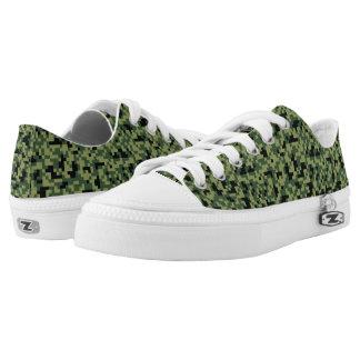 Pixel-Kunst-Grün-Tarnung. Ihre Camouflage Niedrig-geschnittene Sneaker