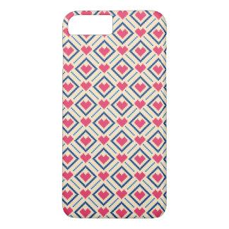Pixel-Kunst-Liebe iPhone 8 Plus/7 Plus Hülle