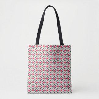 Pixel-Kunst-Liebe Tasche