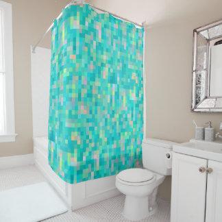Pixel-Kunst-Mehrfarbenmuster Duschvorhang