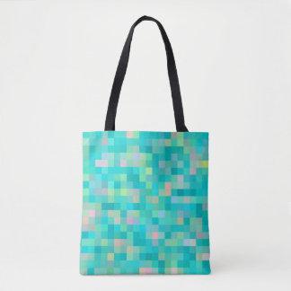 Pixel-Kunst-Mehrfarbenmuster Tasche