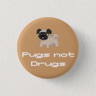 Pixel-Mops-Knopf Runder Button 3,2 Cm