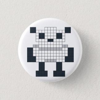 Pixel-Panda-Abzeichen Runder Button 3,2 Cm