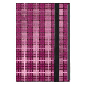 Pixel Plaid_Magenta-Black Hülle Fürs iPad Mini