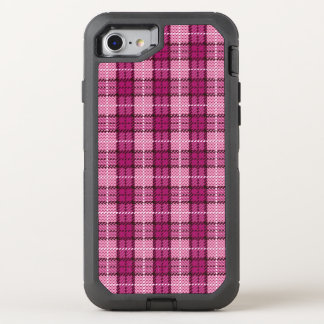 Pixel Plaid_Magenta-Black OtterBox Defender iPhone 8/7 Hülle