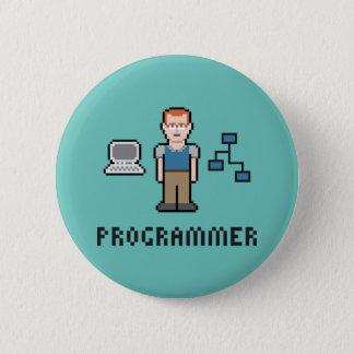 Pixel-Programmierer-runder Knopf Runder Button 5,7 Cm