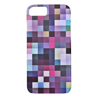 Pixel quadriert iPhone 7 Fall - Purpur iPhone 8/7 Hülle