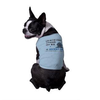 Pixel-Raum-Gruppen-Hündchen-gewelltes Trägershirt Shirt