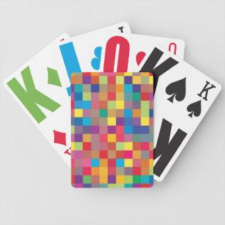 Pixel-Regenbogen-Quadrat-Muster Bicycle Spielkarten