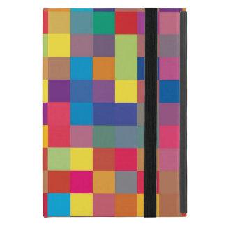 Pixel-Regenbogen-Quadrat-Muster iPad Mini Etui