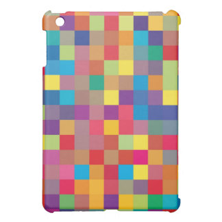 Pixel-Regenbogen-Quadrat-Muster iPad Mini Hülle