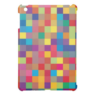 Pixel-Regenbogen-Quadrat Pern iPad Mini Hülle