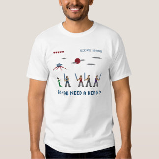 Pixel-Samurai-Held Tshirts