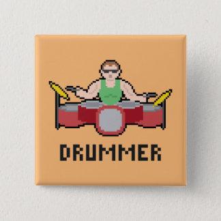 Pixel-Schlagzeuger-Knopf Quadratischer Button 5,1 Cm