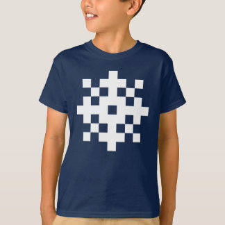 Pixel-Schneeflocke T-Shirt