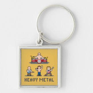 Pixel-Schwermetall Keychain Schlüsselanhänger