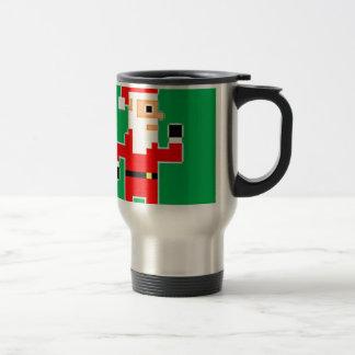 Pixel Weihnachtsmann Reisebecher