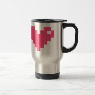 Pixelated Liebe Reisebecher