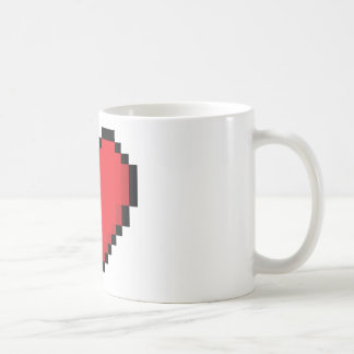 Pixelated rotes Videospielherz Kaffeetasse