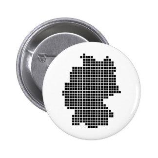 Pixeldeutschland-Form Runder Button 5,1 Cm