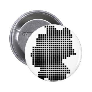 Pixeldeutschland-Form Runder Button 5,7 Cm