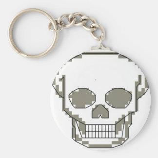 Pixelkunstschädel Schlüsselanhänger
