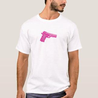 Pixellated rosa Pistolen-T-Stück T-Shirt