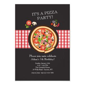 Piza Torten-Einladung Karte