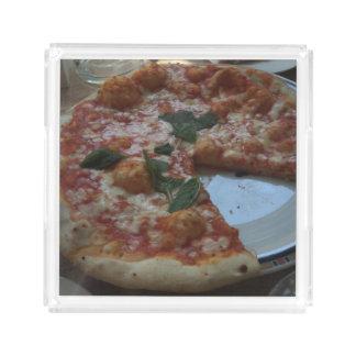 Pizza-Behälter Acryl Tablett