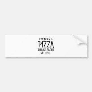 Pizza denkt an mich autoaufkleber