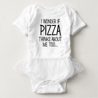 Pizza denkt an mich baby strampler