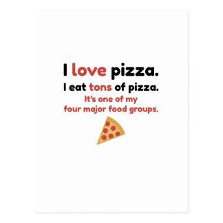 Pizza der Liebe I. Ich esse Tonnen Pizza Postkarte