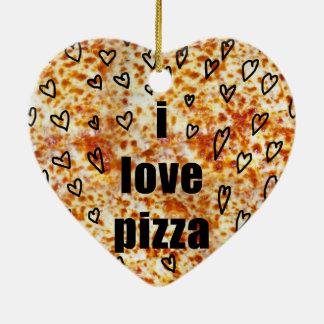 Pizza der Liebe I/Pizza-Lieben ich Keramik Ornament