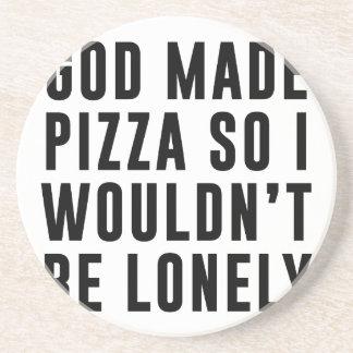 Pizza einsam getränkeuntersetzer