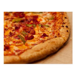 Pizza-Foto Postkarte