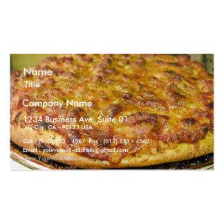 Pizza für Abendessen Visitenkartenvorlagen