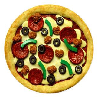 Pizza-Geburtstags-Party Einladung