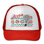 Pizza irgendeine Scheibe der Weisen-I es Retro Hut Kappen
