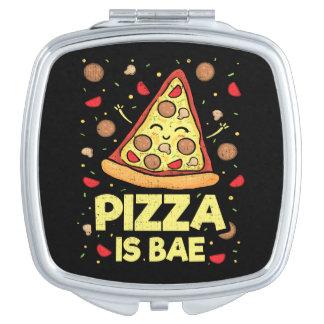 Pizza ist Bae - niedlicher Kawaii lustiger Cartoon Schminkspiegel