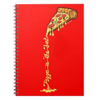 Pizza ist das Beste Spiral Notizblock