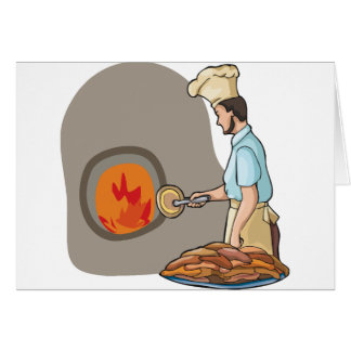 Pizza-Kochs-Gruß-Karten Karte